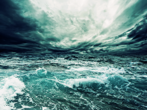 cyan sea storm wall inkbluesky